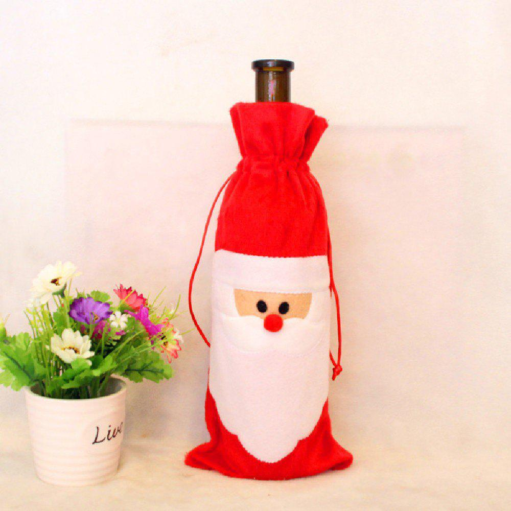 YEDUO Wine Bottle Set Cover Bag Christmas Dinner Table Decoration Home Party Decors Santa Claus christmas table decor santa clothes wine bottle cover bag page 1 page 5