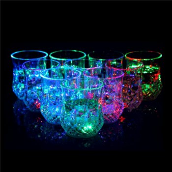 LED Flash PS Pineapple Cup 2PCS - TRANSPARENT
