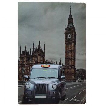 Big Ben and Car Vintage Style Metal Painting for Cafe Bar Restaurant Wall Decor - COLORMIX COLORMIX