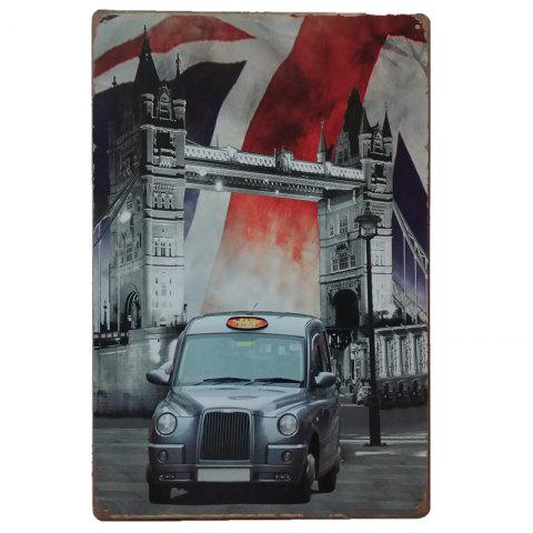 Car Vintage Style Metal Painting for  Wall Decor - COLORMIX