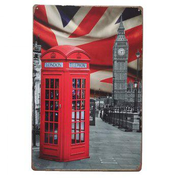 Big Ben Metal Painting for Cafe Bar Restaurant Wall Decor - COLORMIX COLORMIX