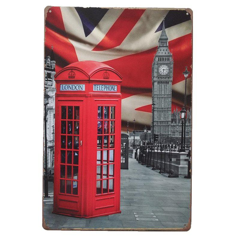 Big Ben Metal Painting for Cafe Bar Restaurant Wall Decor - COLORMIX