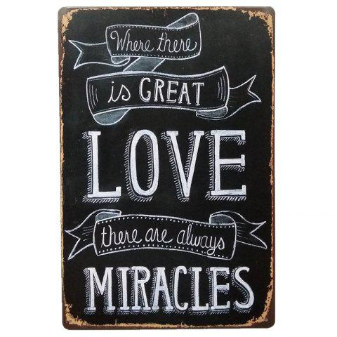 Love English Proverbs Retro Style Metal Painting for  Wall Decor - BLACK