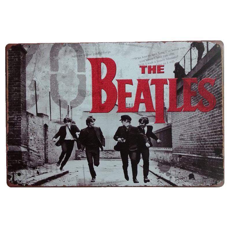 The Beatles Vintage Style Metal Painting for Cafe Bar Restaurant Wall Decor - COLORMIX