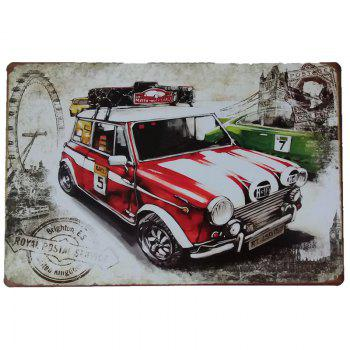 Car Pattern Vintage Style Metal Painting for Cafe Bar Restaurant Home Wall Decor - COLORMIX COLORMIX