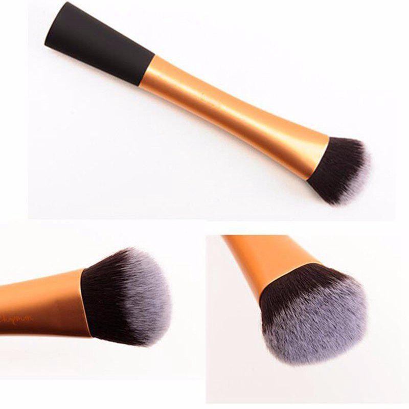Pinceau de Maquillage TODO Beauty Contour Foundation Maquillage Cheveux Synthétiques Flat Top Cosmétiques Stippling Brush - Or
