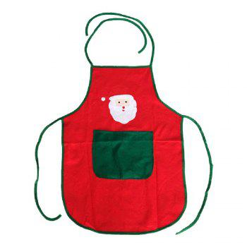 YEDUO Nonwoven Santa Claus Apron Free Size for Birthday / Christmas Day - RED RED