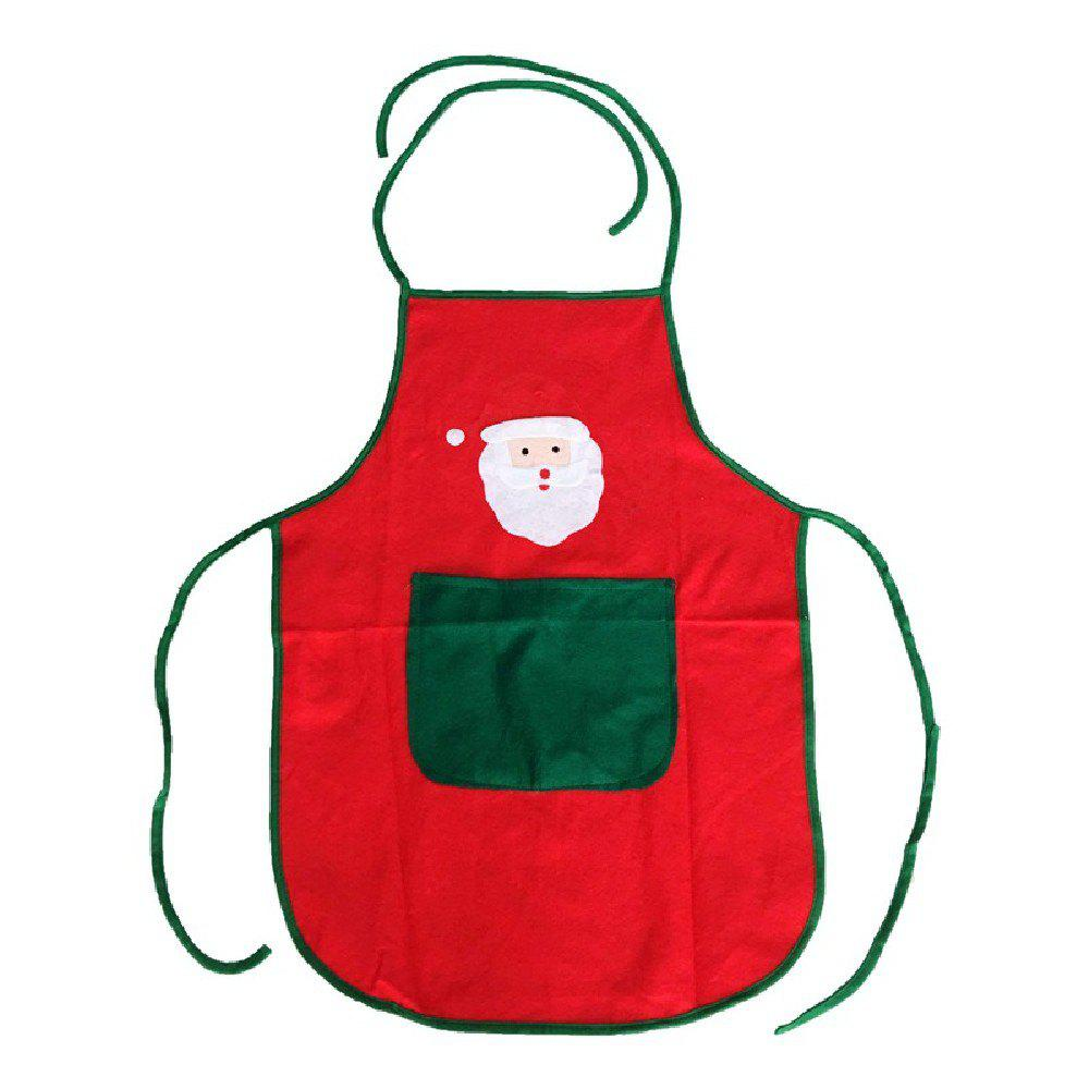 YEDUO Nonwoven Santa Claus Apron Free Size for Birthday / Christmas Day - RED