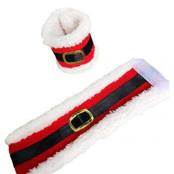 YEDUO Christmas Belt Buckle Shape Napkin Package Decoration for Home Party - RED