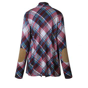 2017 New Autumn Style Plaid Tops Coat - PURPLE L