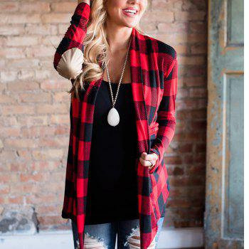 2017 New Autumn Style Plaid Tops Coat - RED RED