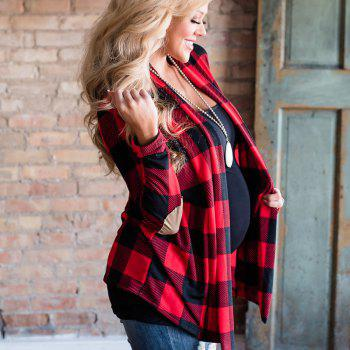 2017 New Autumn Style Plaid Tops Coat - RED S