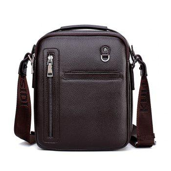 PU Leather Male Bag Wild Leisure Shoulder Messenger - BROWN BROWN