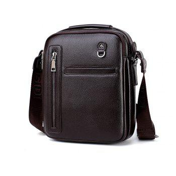 PU Leather Male Bag Wild Leisure Shoulder Messenger -  BROWN