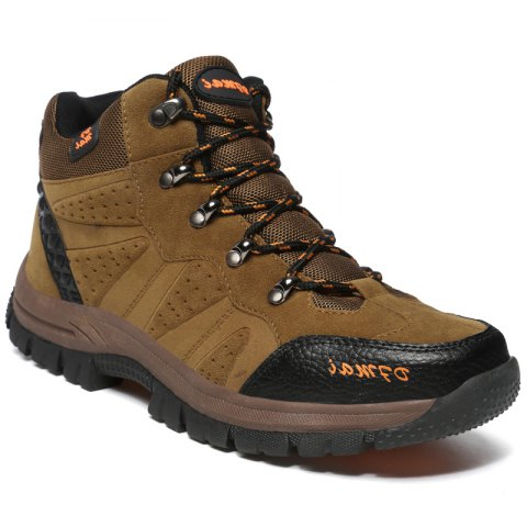 Fashion Sports Outdoor Shoes Anti Skid Wear Resistant Breathable Hiking Boots - KHAKI 37