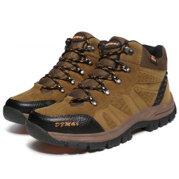 Fashion Sports Outdoor Shoes Anti Skid Wear Resistant Breathable Hiking Boots - KHAKI KHAKI