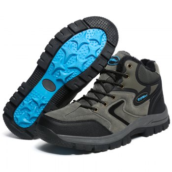 Outdoor Men's Fashion Hiking and Riding Climbing Camping Casual Comfortable Flat Sports Travel Shoes - GRAY GRAY