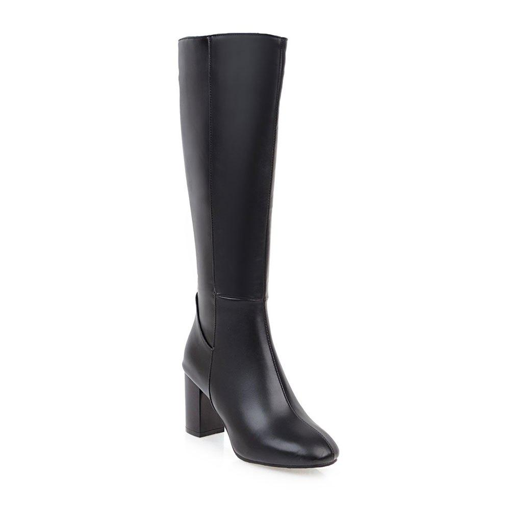 Simple Fashionable European Style Female Boots - BLACK 36