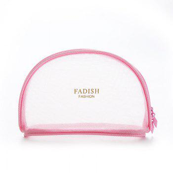 FADISH Large Fashion Simple washable Bag Mesh Cosmetic Bag Mini Portable Portable Travel Bag Bag - PINK PINK