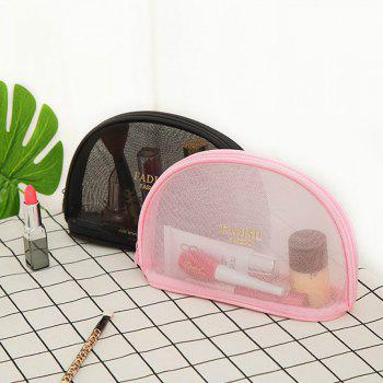 FADISH Large Fashion Simple washable Bag Mesh Cosmetic Bag Mini Portable Portable Travel Bag Bag - PINK