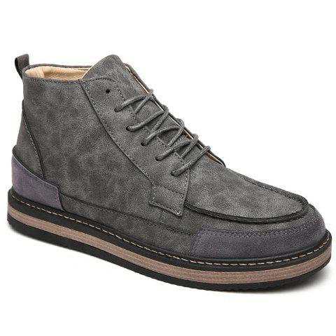 Men Winter Warm Casual Shoes - GRAY 41