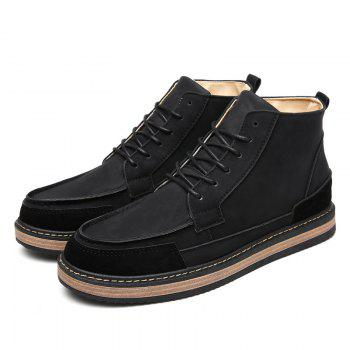 Men Winter Warm Casual Shoes - BLACK BLACK