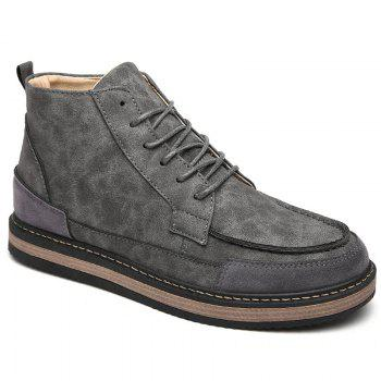 Men Winter Warm Casual Shoes - GRAY GRAY
