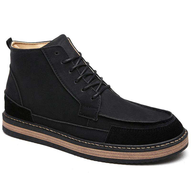 Men Winter Warm Casual Shoes - BLACK 44