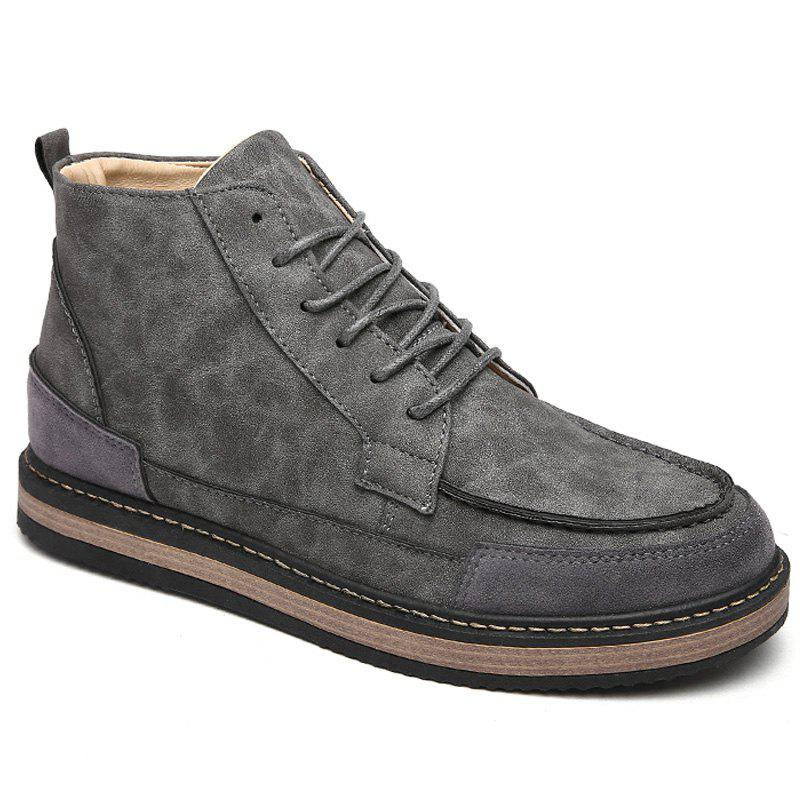 Men Winter Warm Casual Shoes - GRAY 42