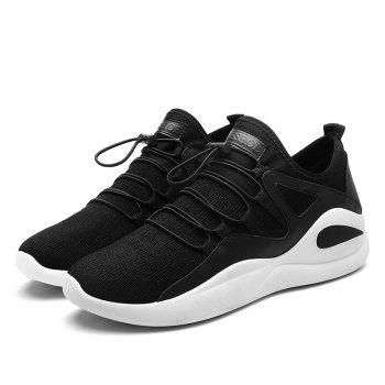 Korean Style Leisure Winter Warm Men Shoes - BLACK WHITE BLACK WHITE