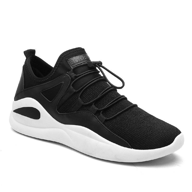 Korean Style Leisure Winter Warm Men Shoes - BLACK WHITE 42