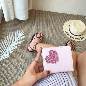 Blocking Small Compact PU Leather Pocket Wallet for Women -  PINK