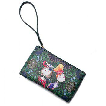 Fashion Casual Printing Wallets for Women - GREEN GREEN