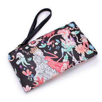 Fashion Casual Printing Wallets for Women - BLACK