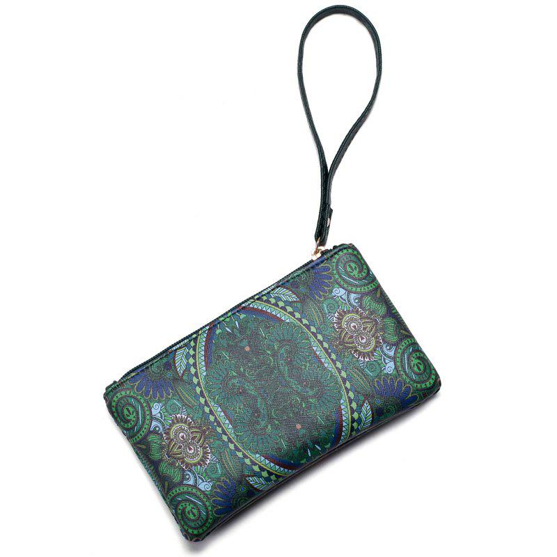 Fashion Casual Printing Wallets for Women - GREEN