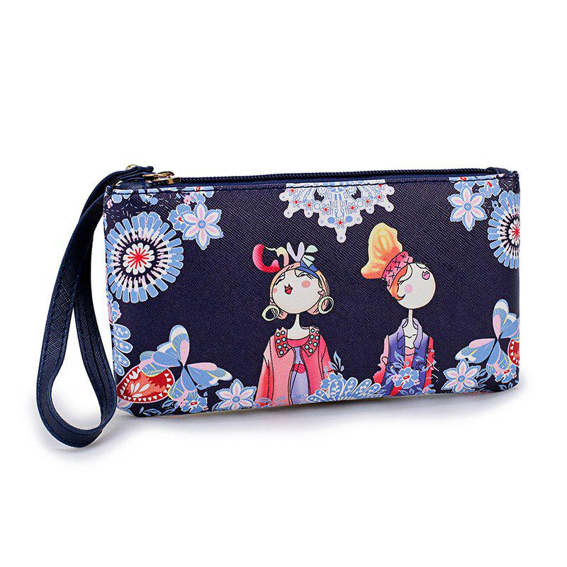 Fashion Casual Printing Wallets for Women - BLUE