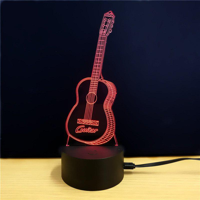 M.Sparkling TD074 Creative Guitar 3D LED Lamp m sparkling td303 creative cartoon 3d led lamp