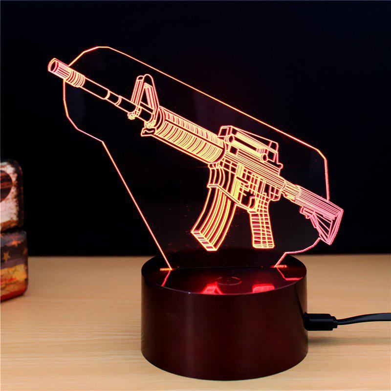 M.Sparkling TD149 Creative Weapons 3D LED Lamp m sparkling td303 creative cartoon 3d led lamp