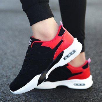 Men Outdoor New Winter Autumn Fashion Warm Lace Up Casual Shoes - RED RED
