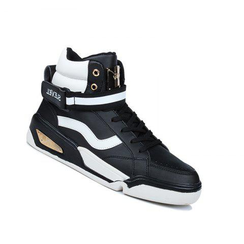 Men Outdoor New Winter Autumn Fashion Warm Lace Up Casual Ankle Shoes - BLACK 40