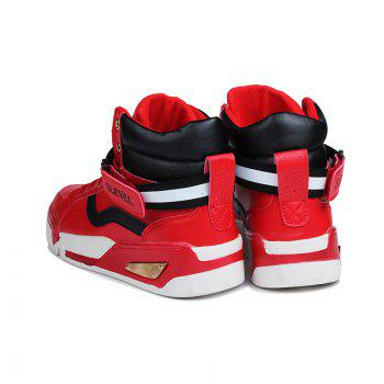 Men Outdoor New Winter Autumn Fashion Warm Lace Up Casual Ankle Shoes - RED RED