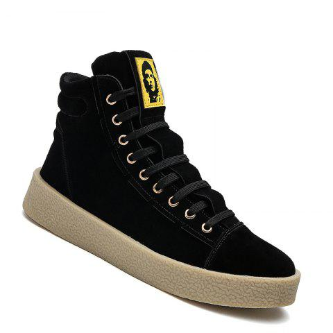 Men Casual Outdoor New Winter Autumn Fashion Suede Surface Ankle Leather Boots - BLACK 44