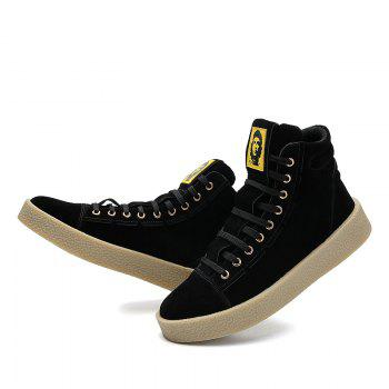 Men Casual Outdoor New Winter Autumn Fashion Suede Surface Ankle Leather Boots - BLACK BLACK