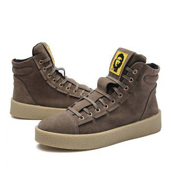 Men Casual Outdoor New Winter Autumn Fashion Suede Surface Ankle Leather Boots - KHAKI KHAKI