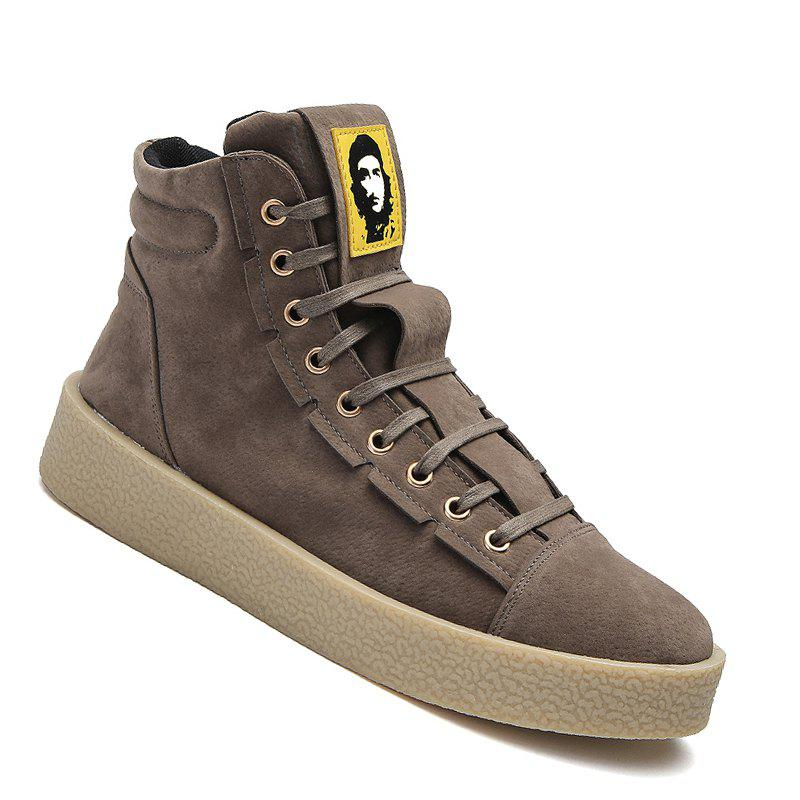 Men Casual Outdoor New Winter Autumn Fashion Suede Surface Ankle Leather Boots - KHAKI 44