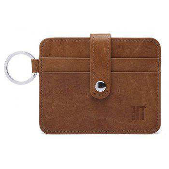 HAUT TON Minimalist High-end Leather Slim Business Credit ID Card Case - BROWN