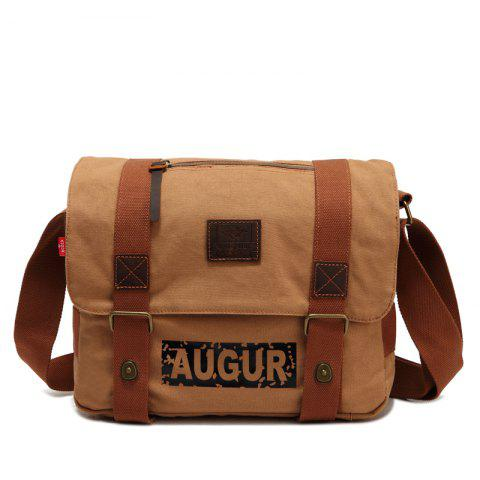 AUGUR Brand Men Messanger Bags High Quality Canvas Shoulder Male Army Military Crossbody Tote Casual Travel Bag - KHAKI