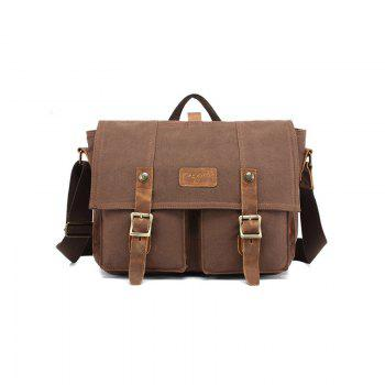 AUGUR Fashion Men Shoulder Bags Male Casual Canva Larger Capacity Travel For Men Business Messenger Bag - COFFEE COFFEE