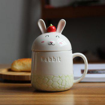 350ML Creative Cute Rabbit Ceramic Cup - GREEN GREEN