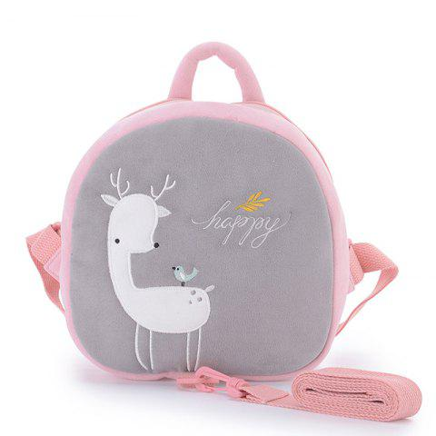 Metoo Children Backpack with Tractive Cord - GRAY